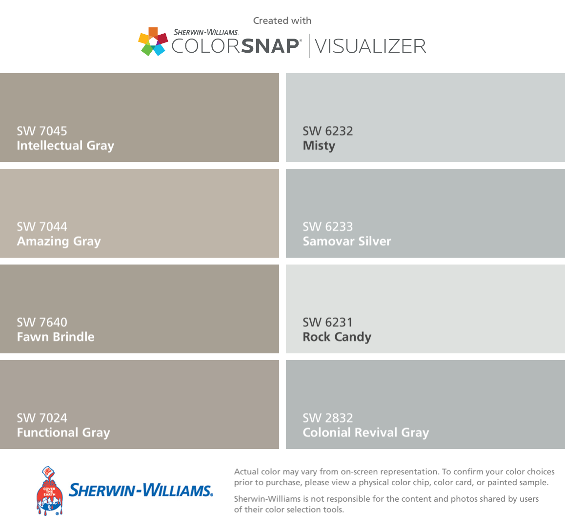 I Found These Colors With Colorsnap Visualizer For Iphone By Sherwin Williams Intellectual Gray Sw 70 Sherwin William Paint Sherwin Williams Paint Color App