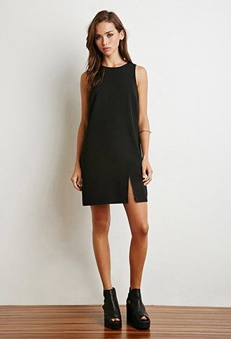 Notched-Front Shift Dress | Forever 21