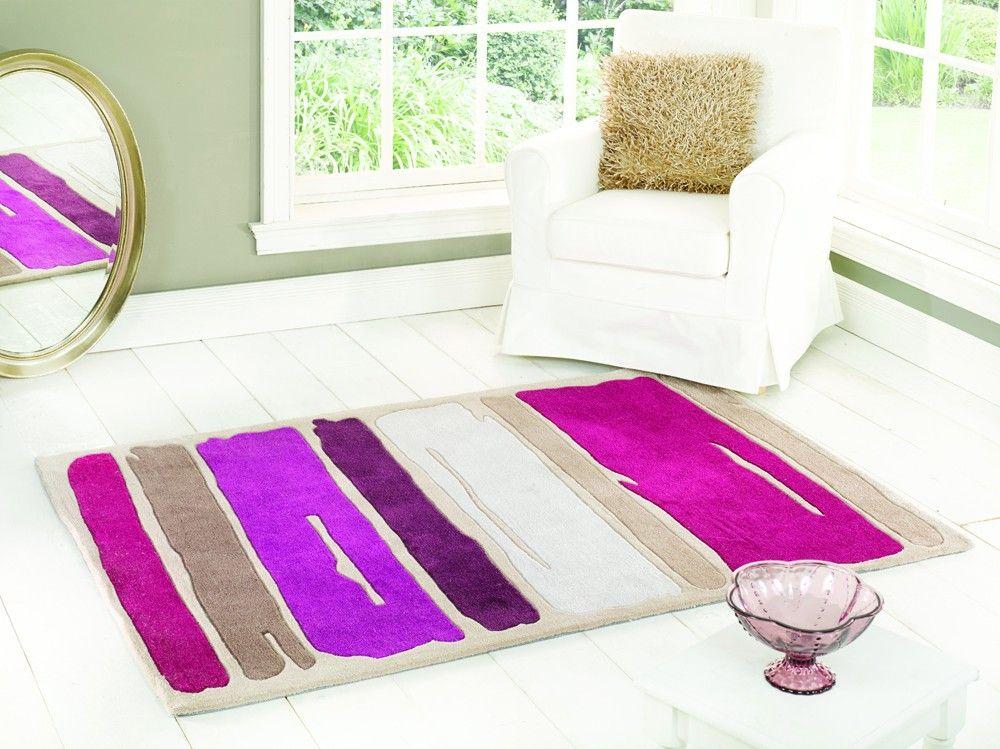 Tapis PAINT STROKES 120x170 Coloris Violet au meilleur prix ! - LeKingStore