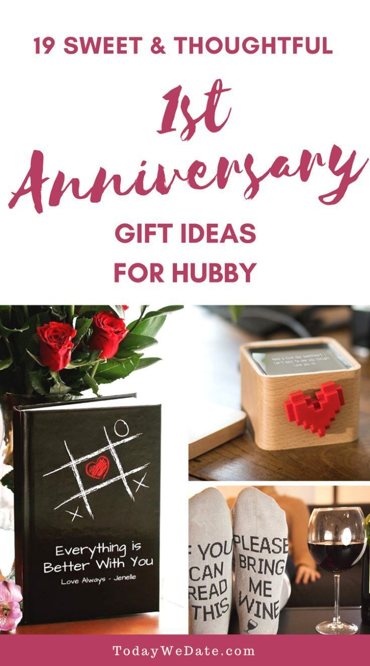 19 Anniversary Gifts That Are Just As Good As Your First Year Anniversary Gifts For Husband First Year Anniversary Gifts For Him 1st Anniversary Gifts For Him