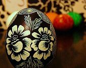 Christine Luschas does beautiful Lithuanian etched eggs (available on Etsy).