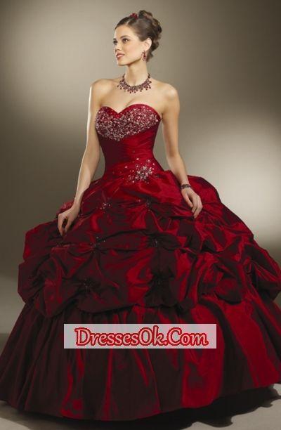 Gorgeous ball gown sweetheart-neck floor-length quinceanera dress ...