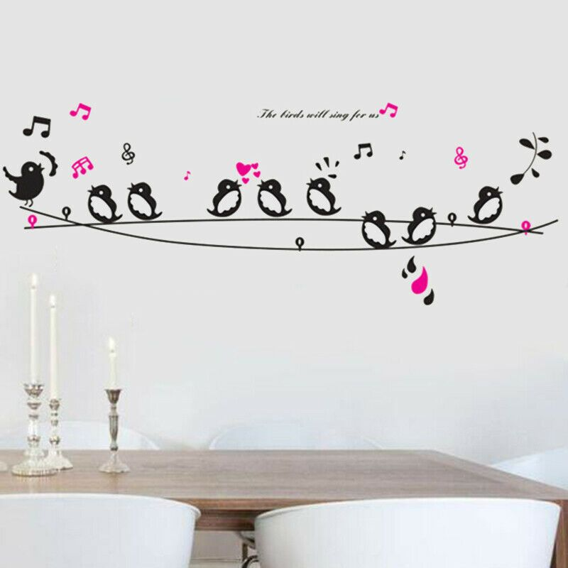 Singing Wall Sticker Creative Bedroom Home Decoration Study Room Self Adhesive Fashion Home Garden Homedco Creative Bedroom Wall Stickers Room Wall Sticker