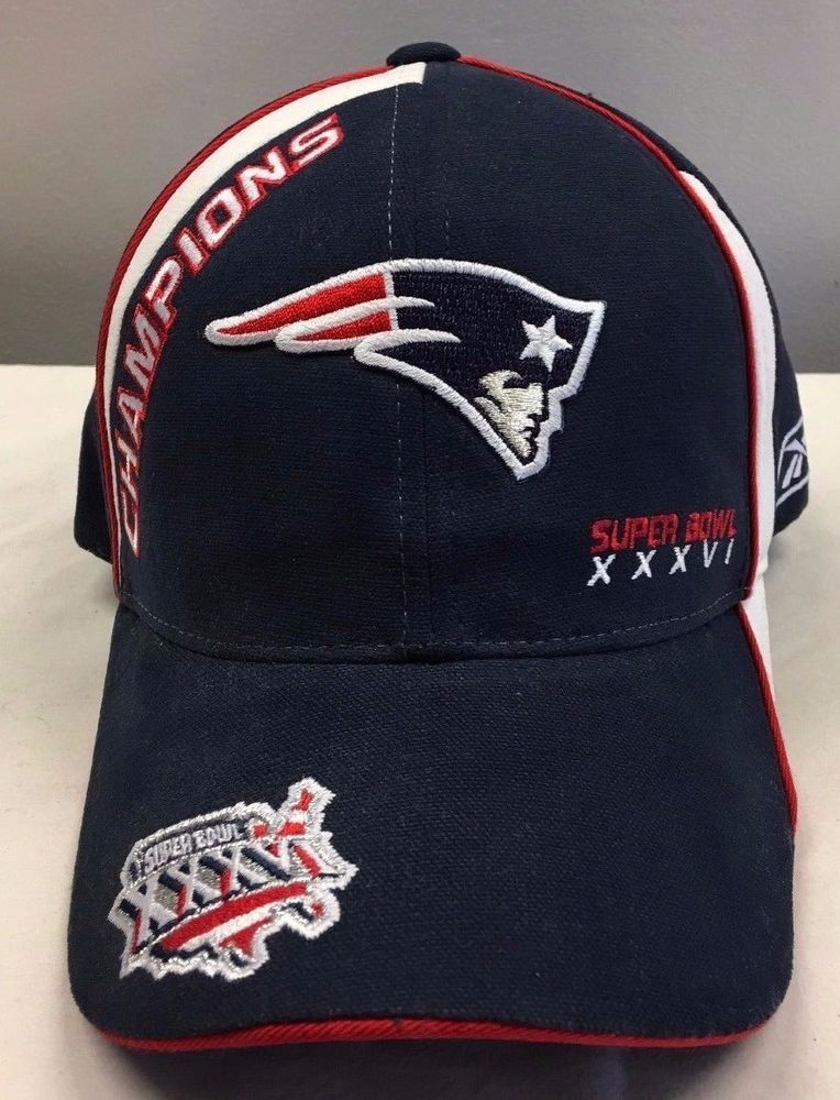 455981bf6f7eb6 New England Patriots Super Bowl XXXVI Locker Room Hat Cap Reebok NEW WITH  TAG #Reebok #NewEnglandPatriots