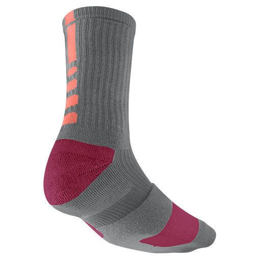 Nike Elite Basketball Crew Socks - Gray Raspberry Pink ...
