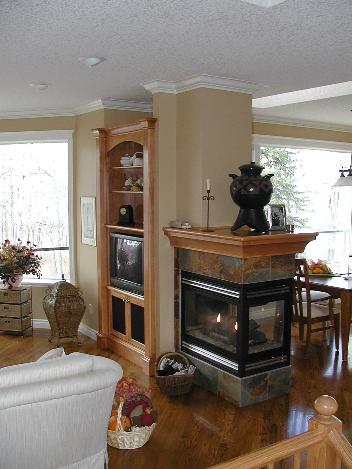 large decorative pot peninsula fireplace pinterest foyers