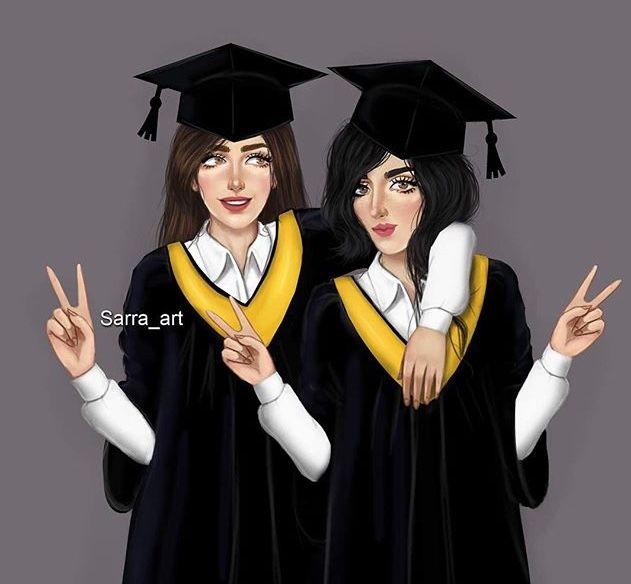 Pin By Nani Angulo On صور صديقات Graduation Girl Sarra Art Cute Girl Drawing