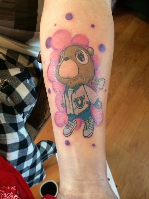 Pin By Alexis Smith On Tat S Piercings Kanye Tattoo Kanye West Tattoo Kanye West Bear