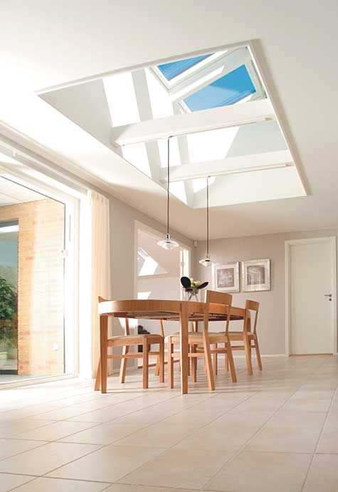 The Sky Is Always Blue When One Has Skylights This