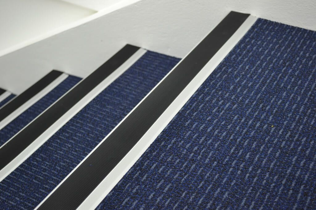 Superior Non Slip Stair Treads Nosing With Blue Non Slip Carpet Non Slip Stair Treads  At Lowes