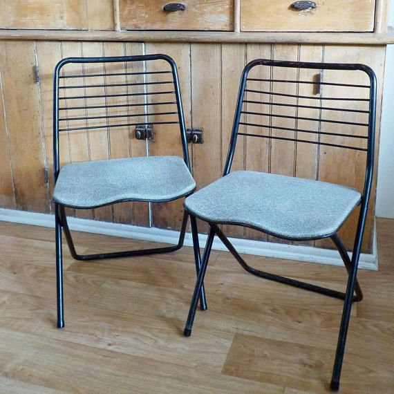 vintage cosco metal folding chairs pair of metal folding chairs