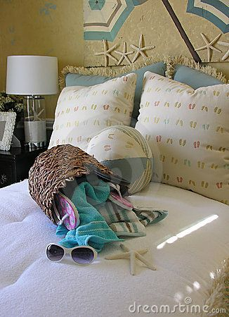 Beach Themed Bedroom Interior Thème Décoration Plage Décoration - Plage theme chambre des idees de decoration