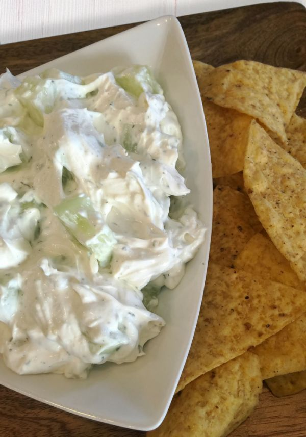 Oh So Simple Creamy Cucumber Dip Creamy Cucumber Dip recipe. This dip is so yummy and so easy to ma