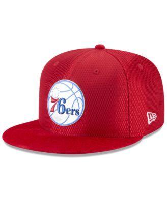 meet 9964d 656e1 New Era Philadelphia 76ers On Court Reverse 9FIFTY Snapback Cap - Red  Adjustable