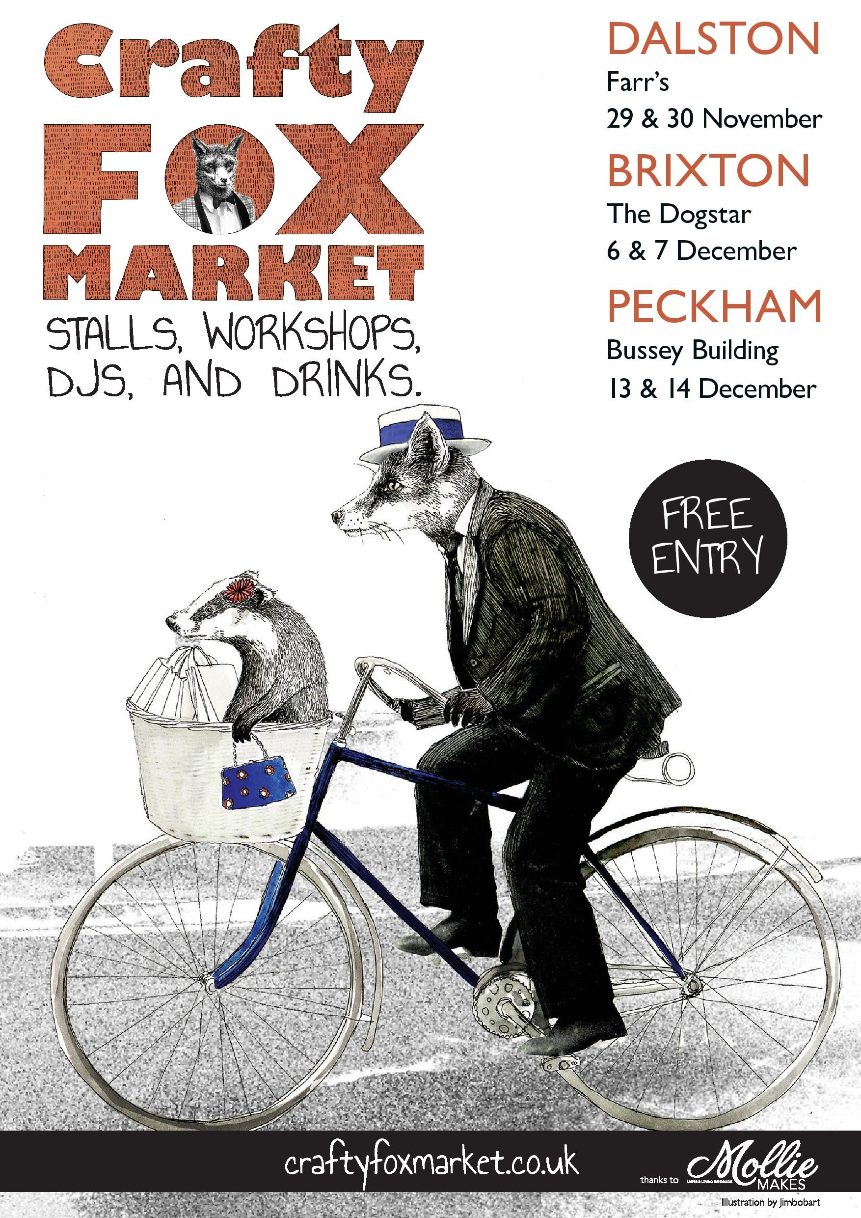 I'll be displaying my creatures at the Crafty Fox Market in the Bussey Building in Peckham on the 14th!!