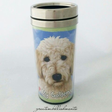 I ❤ My Goldendoodle tumbler. Stainless steel tumbler for hot or cold drinks.