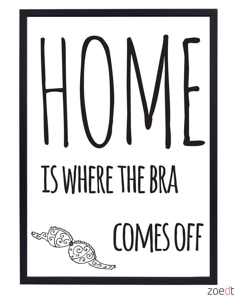 Een leuke poster van Zoedt in zwart/wit met een grappige tekst. Leuk ...
