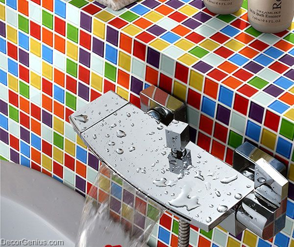 Rainbow Color Candy 25X25 Mosaic Tiles Home Natural Design ... on painted bathtub, painted patio designs, painted chairs designs, painted floor designs, painted table designs, painted furniture designs, painted photography, painted boat designs, painted closets, painted door designs, painted carpet designs, painted glass designs, painted room designs, painted porch designs, painted christmas designs, painted fireplace designs, painted bedroom, painted window designs, painted cabinet designs, painted car designs,
