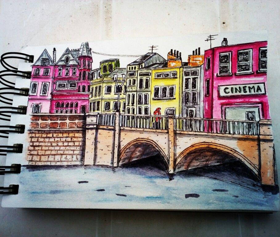 Urban Sketch Rue De Paris A L Aquarelle Par Aurelie Lemoine En
