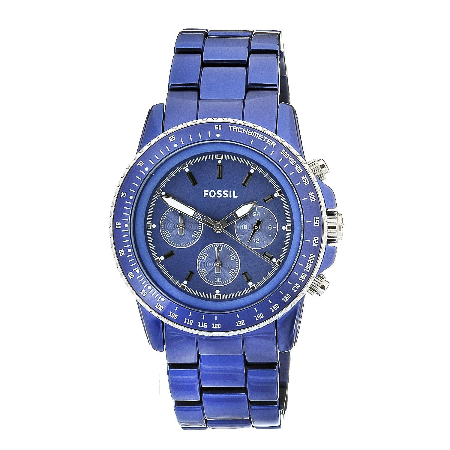 fossil damen uhren chronograph sport aluminium blau ch2710. Black Bedroom Furniture Sets. Home Design Ideas