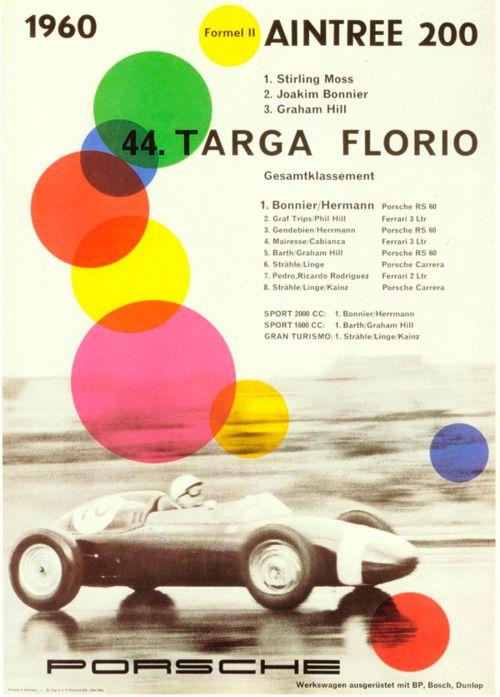 1960 Porsche Ad Vintage Racing Poster Racing Posters Vintage