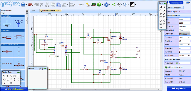 Design Electronic Circuits Online For Free With Easyeda Electronics Circuit Electronic Circuit Design Circuit Design