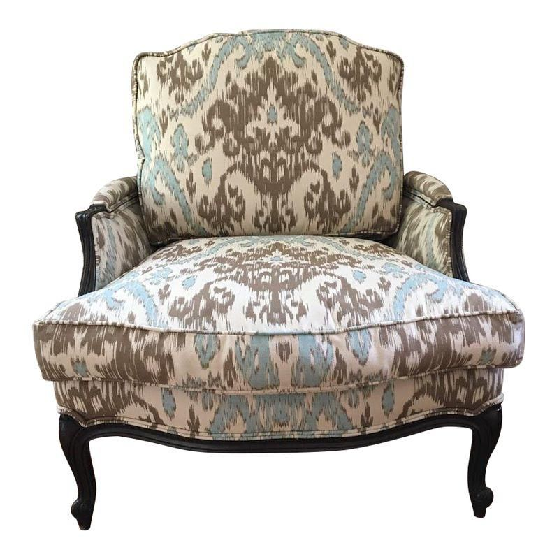 Incredible Ikat Louis Xv Chair Products Chair Reupholstery Leather Inzonedesignstudio Interior Chair Design Inzonedesignstudiocom