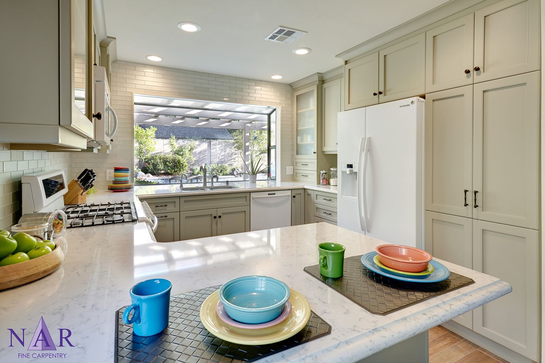Kitchen Design Sacramento Classic Kitchen With Pebble Grey Shaker Style Cabinets Quartz