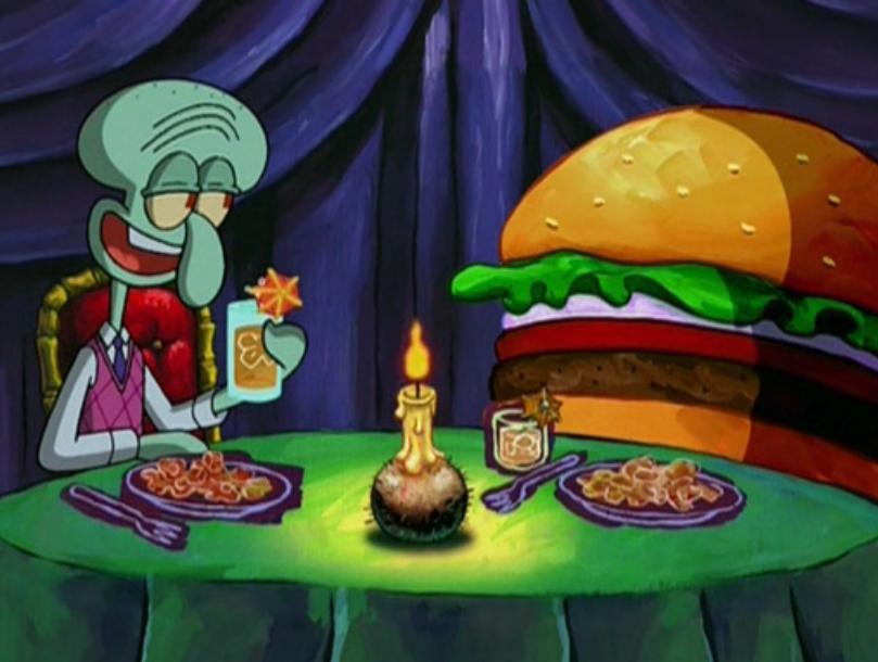 Squidward & Krabby Patty ♥️