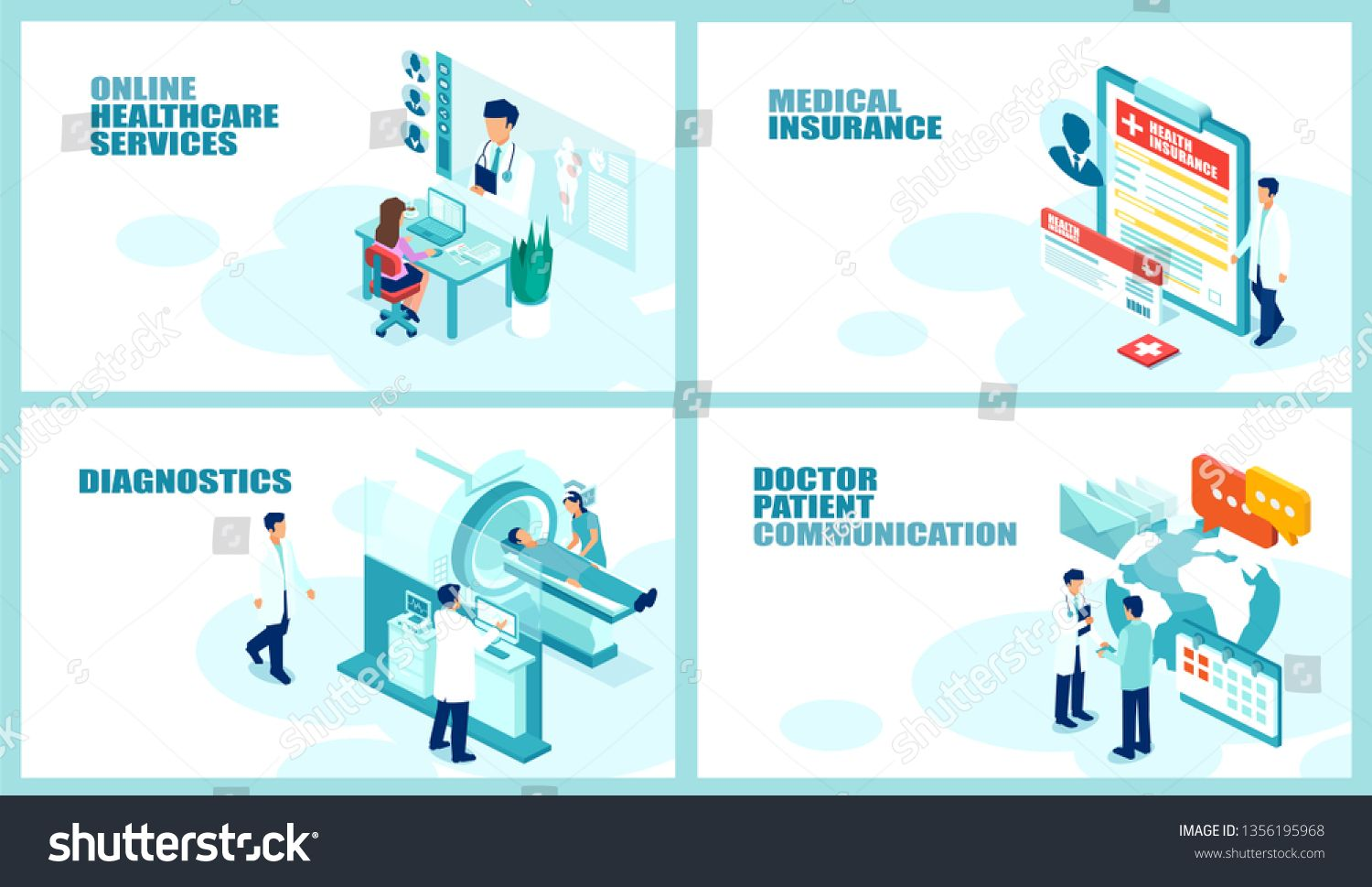 Health Care And Patient Management Concept Isometric Vector