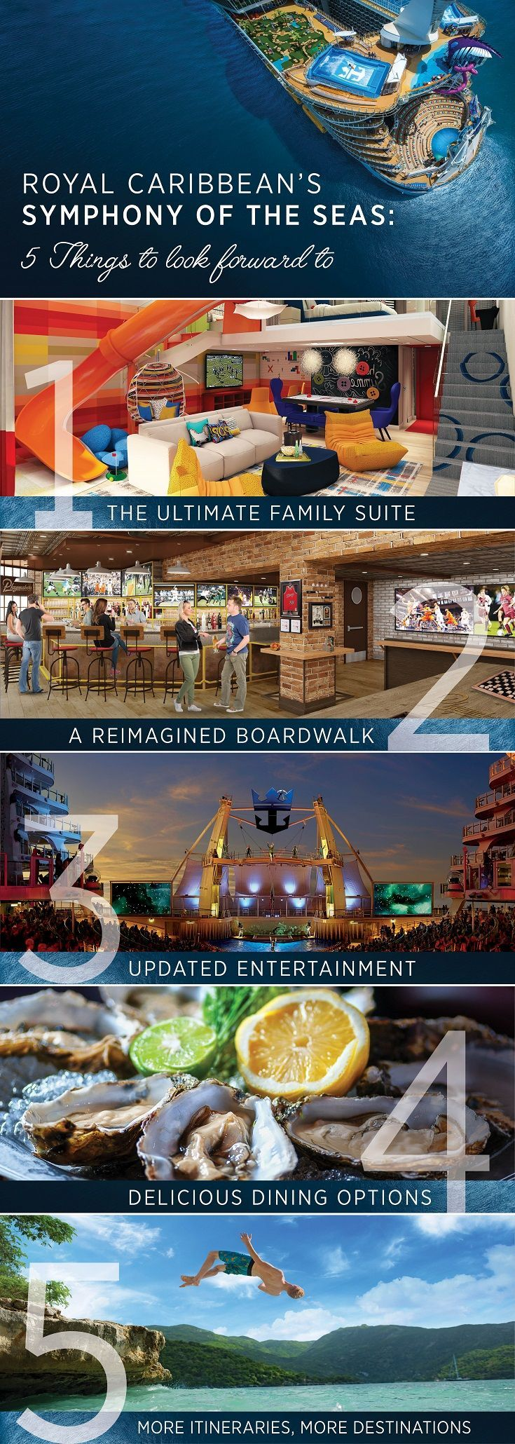 symphony of the seas has arrived here are a few of the exciting rh pinterest com