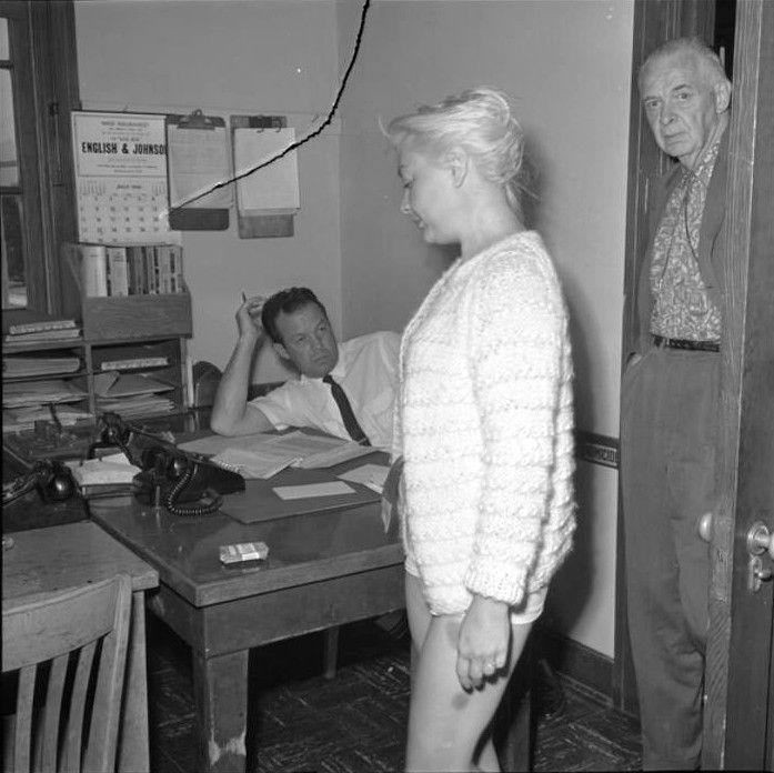 Barbara Payton during her arrest.