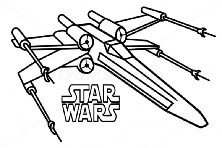 star wars coloring pages x wing fighter Coloring Pages