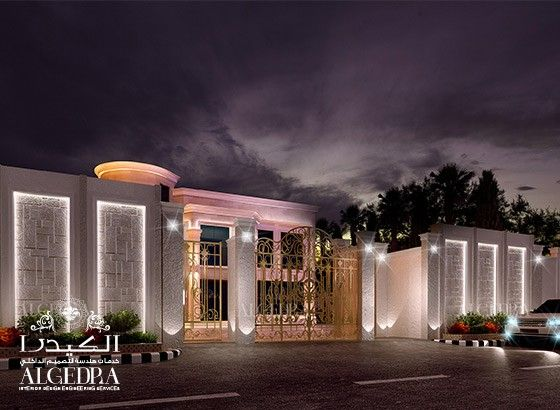 Islamic villa design google search islamic villa for Modern exterior wall design