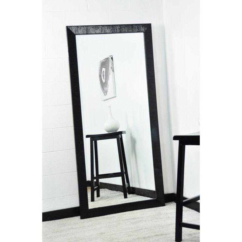 Brandtworks Glossy Black Nordic Floor Mirror Floor Mirror