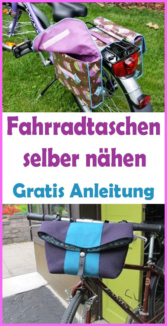 Fahrradtasche Selber Nahen Kostenlose Anleitung Schnittmuster