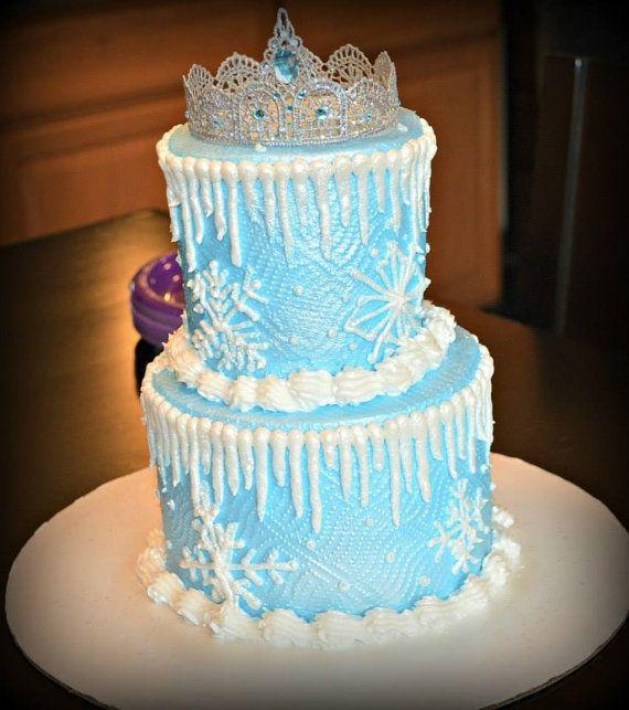 ELSA CAKE Topper Frozen Party Cake Topper Boy Birth Announcement Cake Topper Elsa Inspired