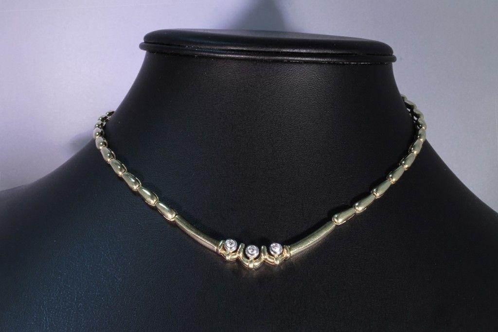 Girocollo Damiani in oro giallo 18 ct e diamanti H color da un peso totale di 0,25 ct. prezzo da outlet. gioielleria orolive