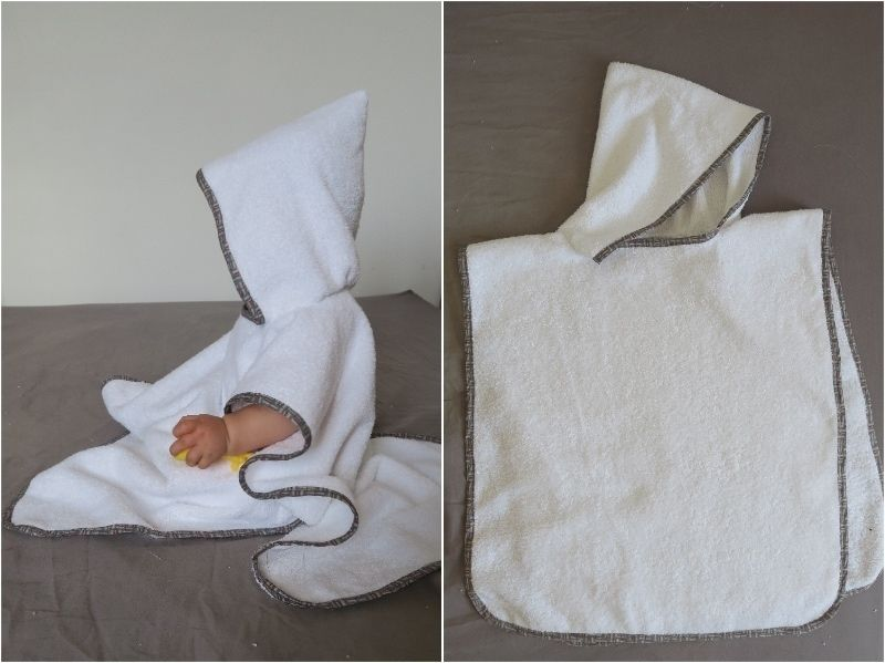 Un poncho de bain pour bébé