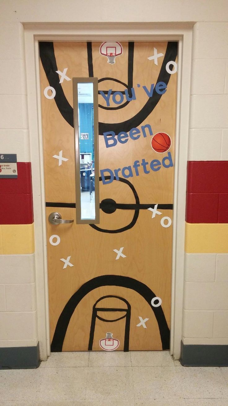 For a basketball themed classroom set up and