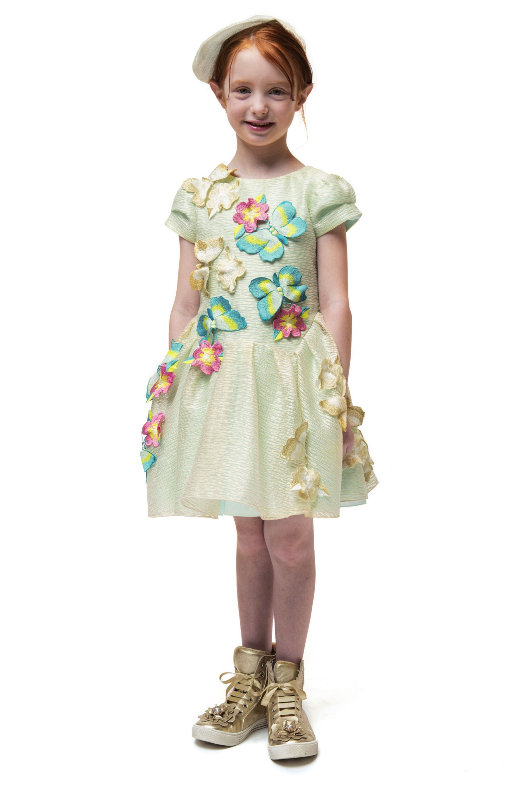 I pinco pallino spring short sleeves ivory dress with matching