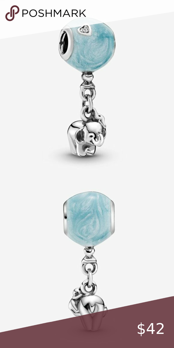 Elephant and Blue Balloon Dangle Charm in 2021 | Womens jewelry ...