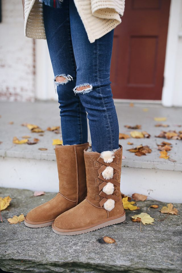 7f6405c1271a Koolaburra by UGG Victoria tall boot c o AG jeans    Volcom cardigan     blanket scarf Have you guys heard of .