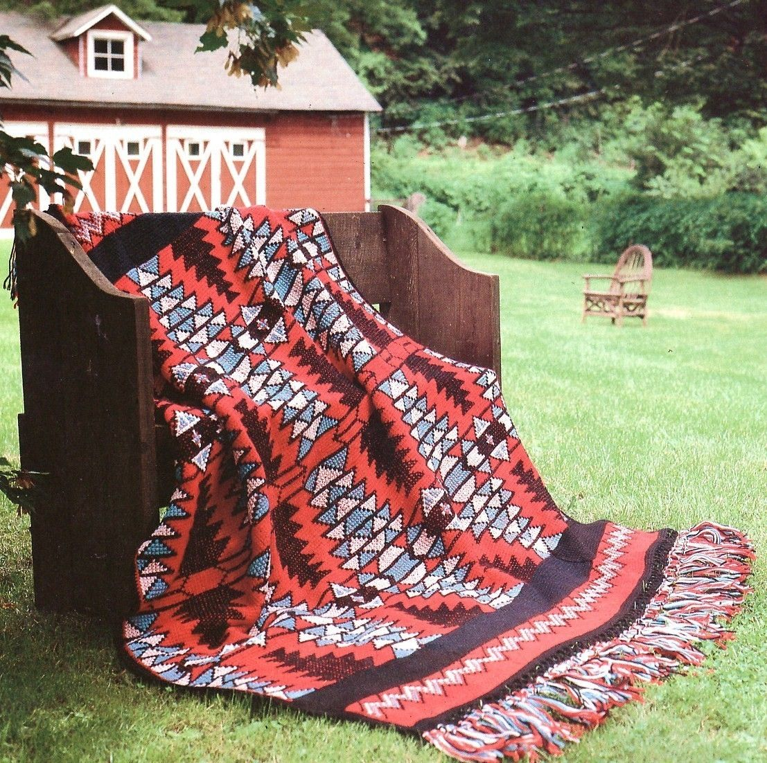 Native American Vibrations Afghan Crochet Pattern Indian Blanket ...
