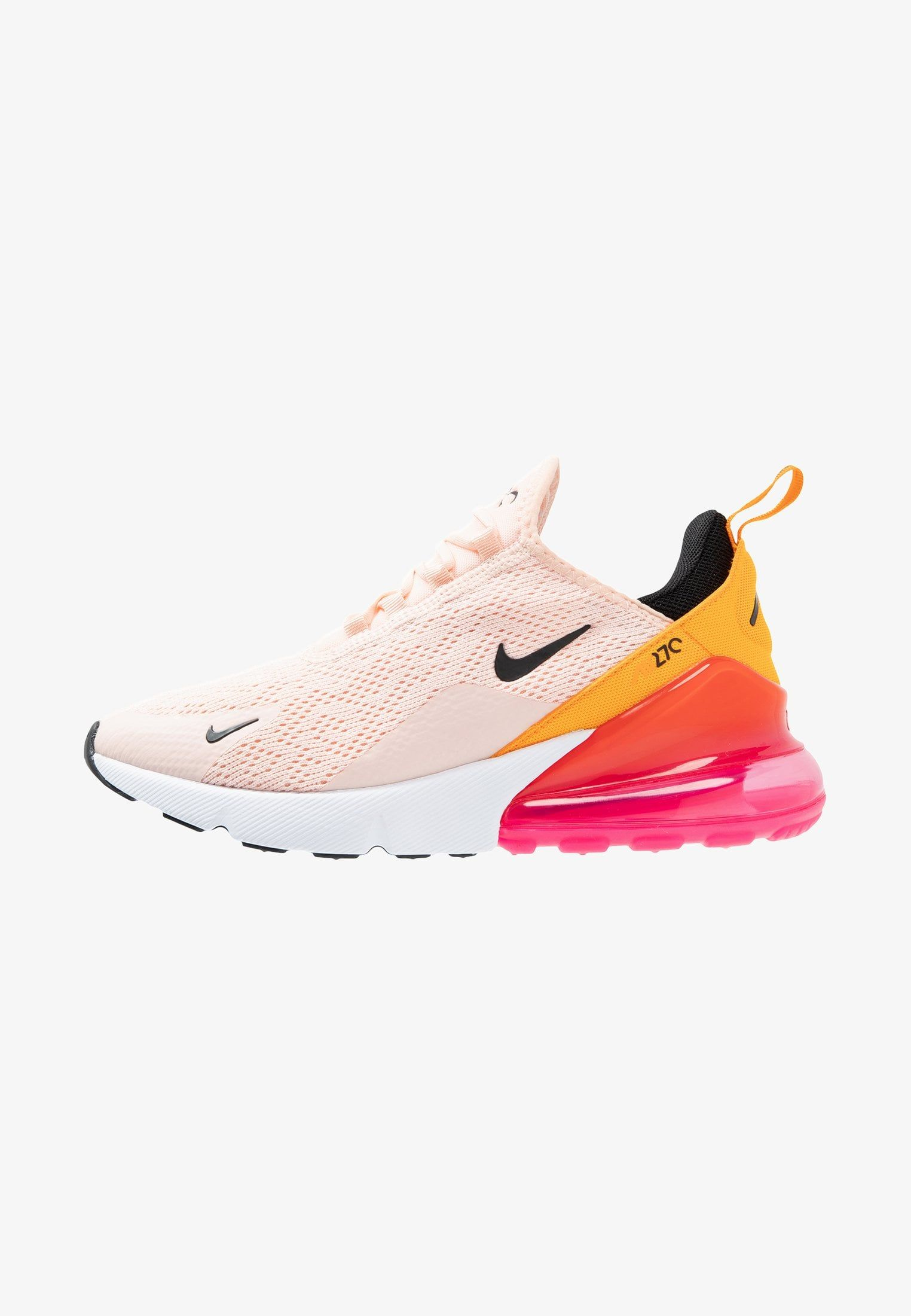 AIR MAX 270 - Sneaker low - washed coral/black/laser fuchsia ...