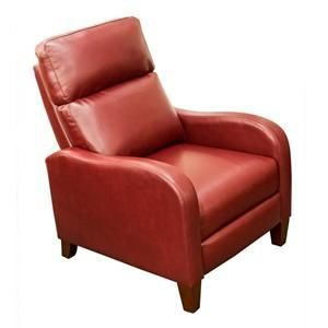 The Synergy Home Furnishings Red Bonded Leather Push-Thru Recliner is designed with an innovative push thru arm recliner to provide you with the most comfo  sc 1 st  Pinterest & Red Bonded Leather Push-Thru Recliner | Nebraska Furniture Mart ... islam-shia.org