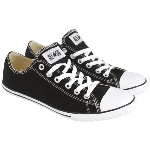 1d5b0b4fbf1 CONVERSE Black Ct Slim Ox Canvass ( 52) ❤ liked on Polyvore featuring  shoes