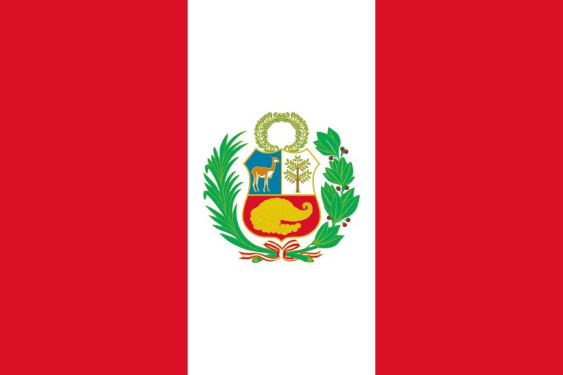 Peru South America Bendera Stiker Amerika