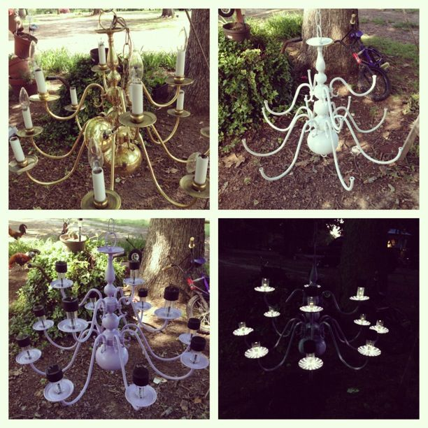 My Diy Solar Light Outdoor Chandelier