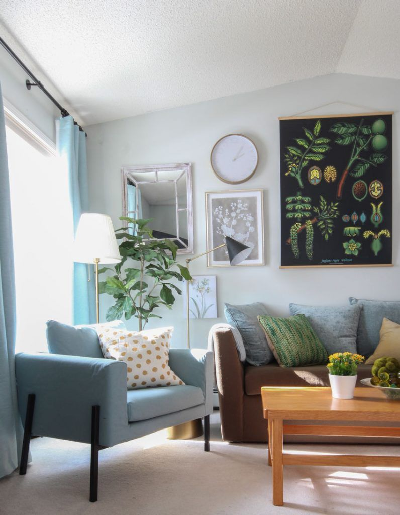 Inside My Nephew S Bachelor Pad Makeover Before After Small Studio Apartment Decorating Apartment Interior Design Small Apartment Living #wickham #gray #living #room